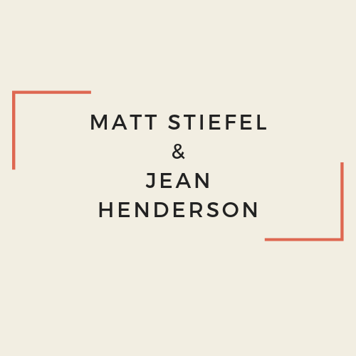Matt Stiefel and Jean Henderson