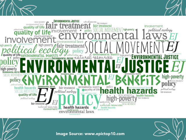 Environmental Justice word cloud