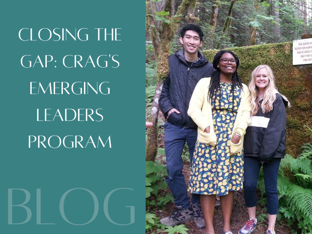 """Photo of former Crag interns at Oxbow Springs. Blog Title: """"Closing the Gap: Crag's Emerging Leaders Program."""""""